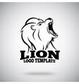 Roaring Lion logo template for sport teams vector image