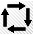 Circulation Arrows Icon vector image