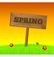 Spring wood sign vector image vector image