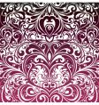 floral decorative wallpaper vector image
