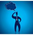 Businessmen thinking vector image