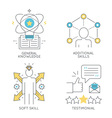 General knowledge additional skills soft skill vector image