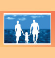 a family made of paper on the background of the vector image