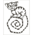 Black and white of cat vector image