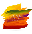 bright colorful hand paint stain design vector image