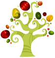 easter tree vector image
