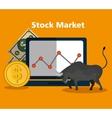 stock financial market design vector image