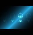 technology future human head light bulb vector image