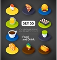 Isometric flat icons set 55 vector image