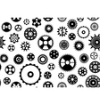 Seamless gear background vector image vector image