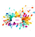abstract colored background with leafs and vector image vector image