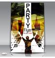 Retro party flyer vector image vector image