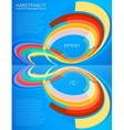Abstract perspective colorful circles leaflet vector image vector image