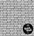 Seamless brick wall black vector image