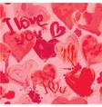 hearts aquarelle seamless 380 vector image