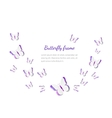 Abstract paper cut out butterflies background vector image