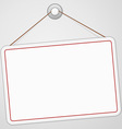 Blank Signboard vector image