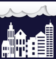 cityscape paper art style city concept vector image