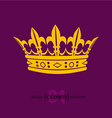 design element crown vector image