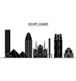 egypt cairo architecture city skyline vector image