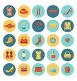 Set of flat design fashion icons vector image