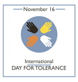 Tolerance Day vector image