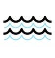 Sea waves vector image