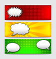 Banners with comics speech bubbles vector image vector image