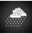 Rain with snow icon vector image vector image