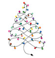 Christmas tree garland vector image