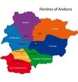 Andorra map vector image vector image
