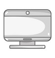 grayscale screen technology and moder equipment vector image