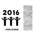 2016 Guys Dance Icon vector image