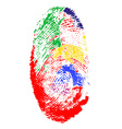 fingerprint 02 vector image