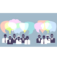 Business people talking Concept vector image