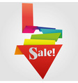 origami sale label vector image vector image