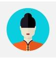 female asian avatar vector image vector image