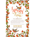 spring card template vector image