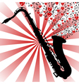 Saxophone-love music vector image