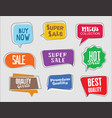 abstract modern sticker collection 1 vector image
