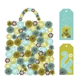 bag pattern made up from flower shapes vector image