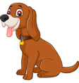 Cartoon dog sitting with tongue out vector image