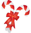 christmas candy pair with red ribbon vector image