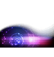 Futuristic digital blue and purple background vector image