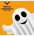 Ghost Halloween party in a white sheet vector image
