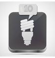 Light bulb app vector image