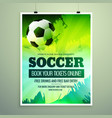 modern sports flyer design with football in green vector image