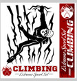 mountain climbing and logos emblems vector image