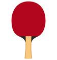 Ping pong paddle vector image