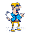 Cartoon hooligan student character vector image